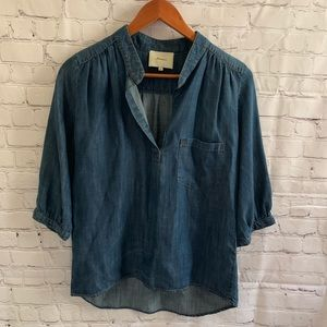 Anthropologie Elvenses 3:4 Sleeve Jean Blouse
